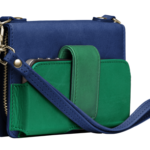 Kayla Clutch Marine and Emerald