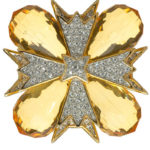 Kenneth Jay Lane brooch, $238.