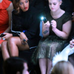 Angela Simmons and her pal Kelly Osborne were spotted attended a few shows together at Lincoln Center