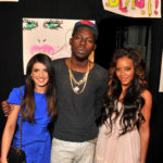 Backstage at Betsey Johnson, actress Shenae Grimes, rapper Theophilus London and Angela Simmons