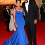 Carmelo and Lala Anthony in Zac Posen