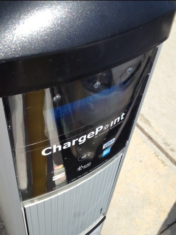 Charge and go with any Charge Point location and the Chevy Volt