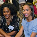 Style Bloggers of Color panelists Kimberly Warner (@KimmyGotSoul) and Tia Williams (@ShakeYourBeauty)