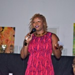 Claire Summers of TheFashionBomb.com gives a stirring keynote address at the Style Bloggers of Color Awards