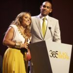 Tamia & Grant Hill accepts their award at the McDonald's 365Black Awards