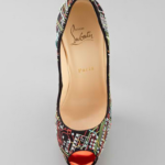Christian Louboutin Lady Peep Geek Embroidered Pump top