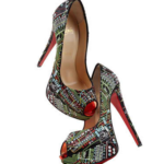 Christian Louboutin Lady Peep Geek Embroidered shoe 2