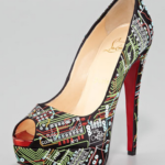 Christian Louboutin Lady Peep Geek embroidered computer shoe