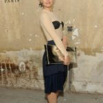 Actress Mena Suvari wearing Maison Martin Margiela