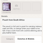 Poshmark - Listing Details (Pouch from South Africa)