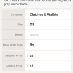 Poshmark - Listings Setup