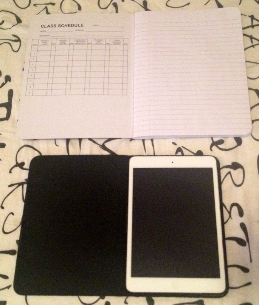 ihome composition case and composition notebook