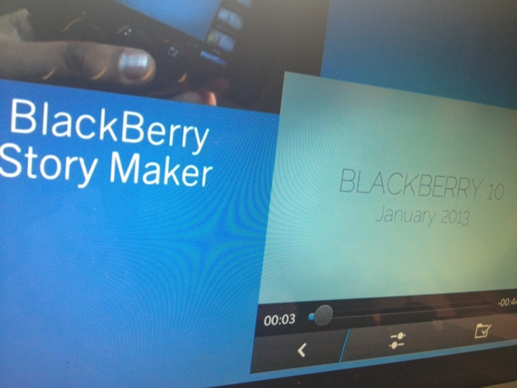 blackberry 10 story maker