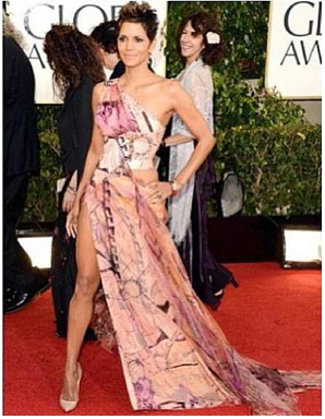 golden globes red carpet halle berry
