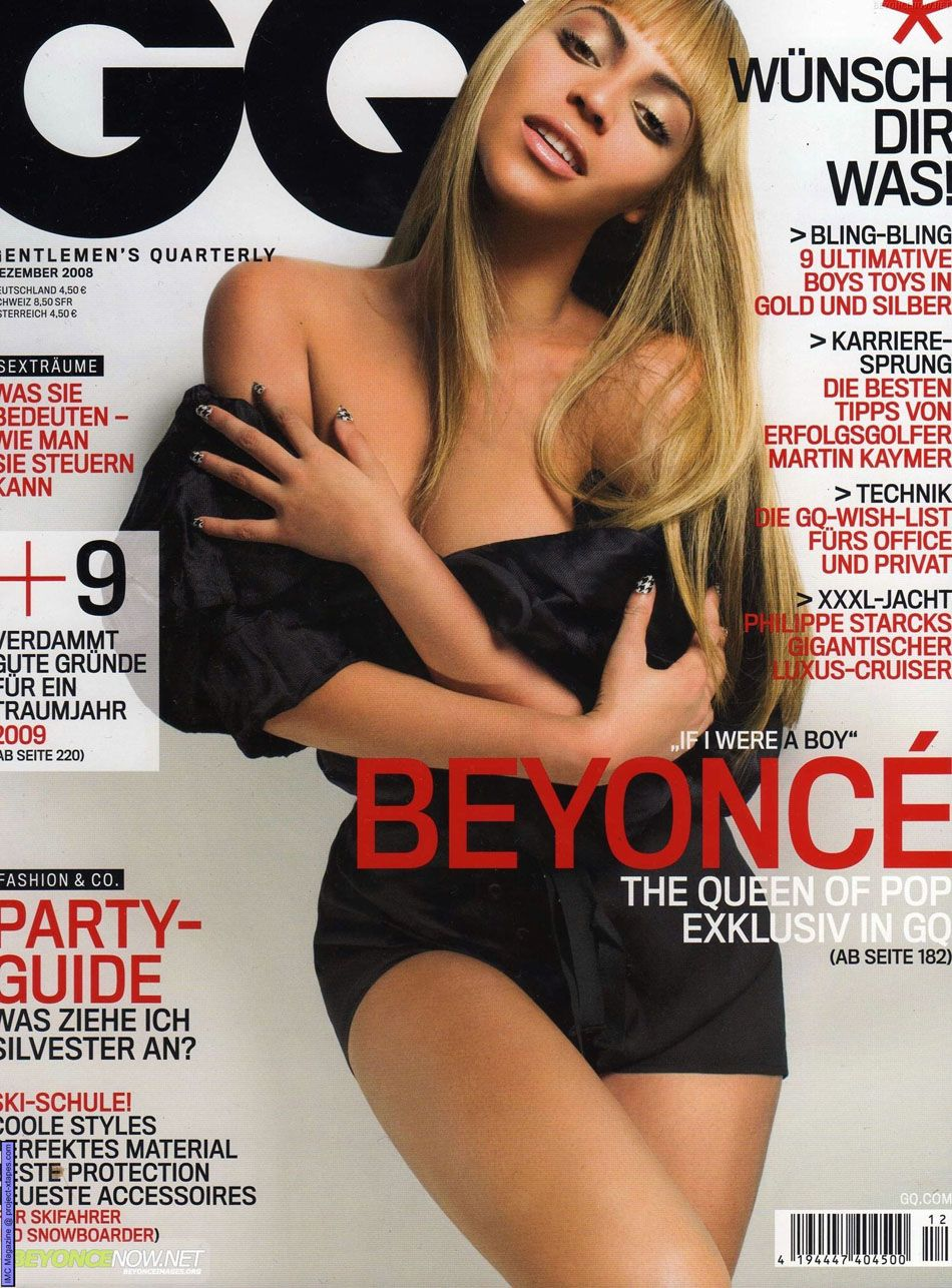 beyonce covers magazine  german gq