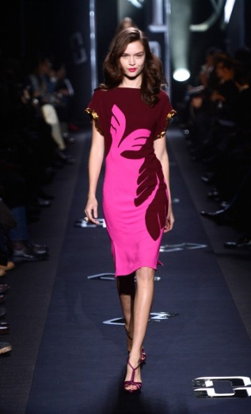 DVF FALL 2013 BURGANDY PINK DRESS