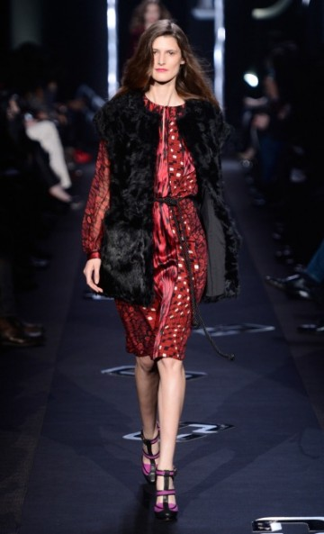 DVF FALL 2013 FUR VEST