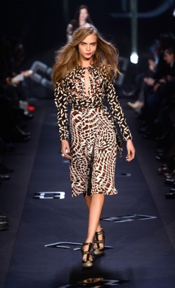 DVF FALL 2013 PRINTED DRESS