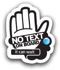 No Text On Board - Take the Pledge - It Can Wait - #ItCanWait Logo