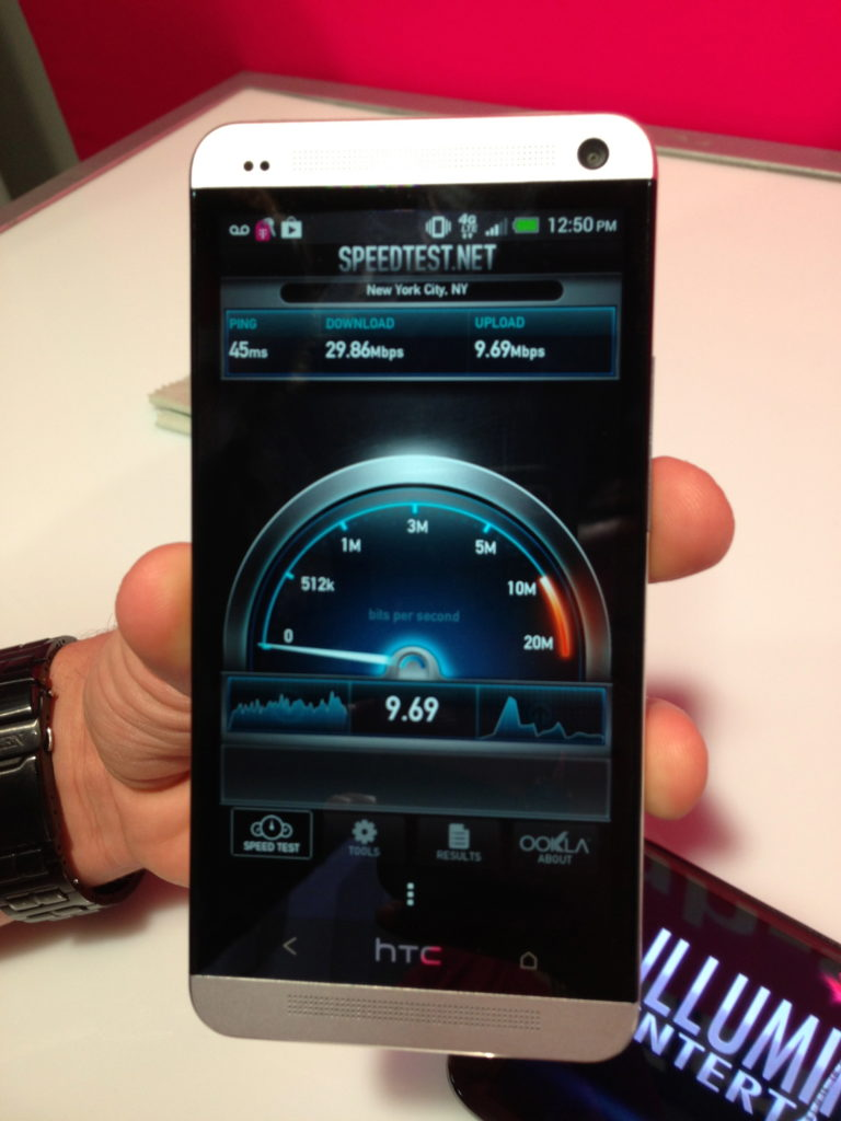 T-Mobile - Simple Choice - HTC One - 4G LTE - Speed Test