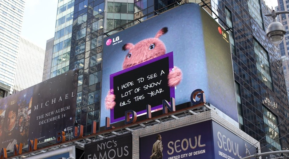 LG Billboard Times Square - Before Samsung Ads