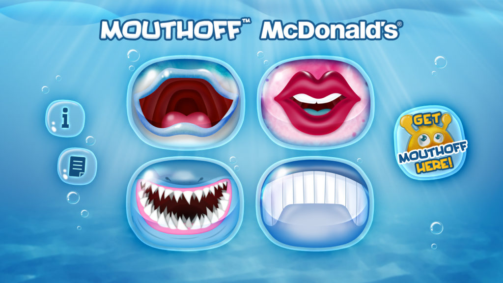 mcDonald's mouth off app