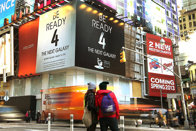 Samsung Ads before LG ads Times Square