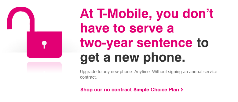 T-Mobile - Simple Choice - No Contract