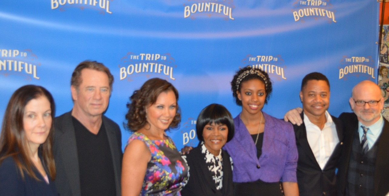 The cast of The Trip to Bountiful with Director Michael Wilson and  Horton Foote's Daughter Hallie Foote
