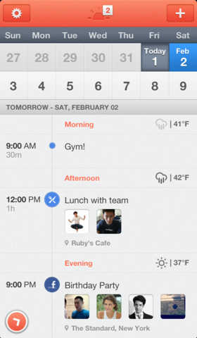 Sunrise Calendar App - Daily View