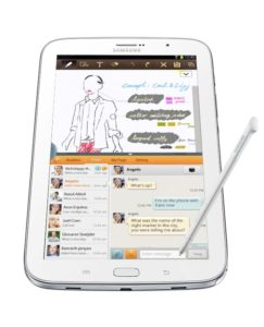 Samsung Galaxy Note 8.0 Tablet - Divas and Dorks - Analie Cruz - @YummyANA - View Verticle With S Pen