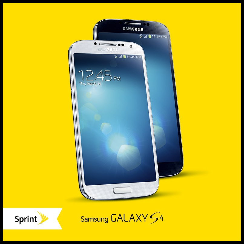 Sprint Samsung Galaxy S4 - yellow Box - @YummyANA