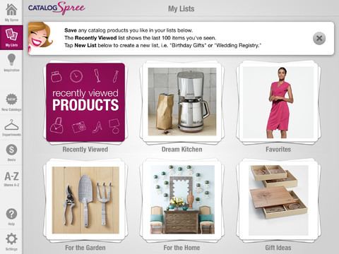 Catalog Spree App - Analie Cruz - Divas and Dorks - Lists