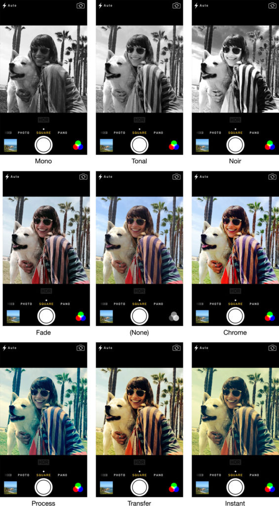 Apple Camera App Has Instagram Like Filters and More in iOS 7 - iPhone filter