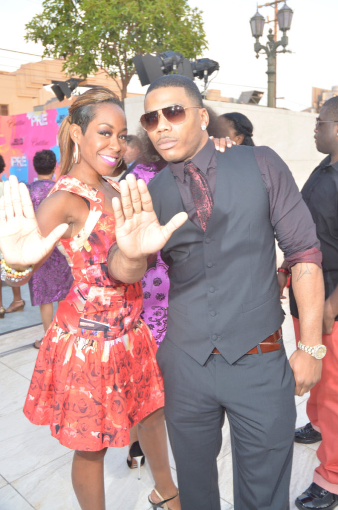 Cadillac ATS PRE BET Awards 2013 Red Carpet Divas and Dorks Brunch - Nelly and Tichina Arnold