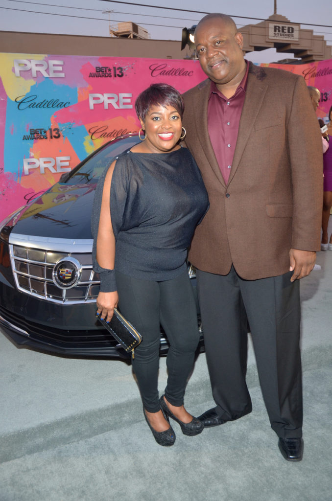 Cadillac ATS PRE BET Awards 2013 Red Carpet Divas and Dorks Brunch - Sherri Shepard and Lamar Sally