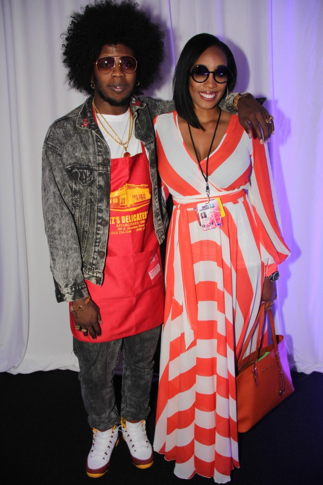 "Can anyone tell me why the ""All Gold Everything"" rapper Trinidad James is wearing a Katz Deli apron?"