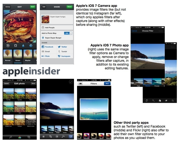 Upgrade You Apple Camera App Has Instagram Like Filters and More in iOS 7 -  iOS7.Camera app