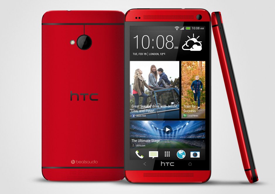 Glamour Red HTC One Of Sprint