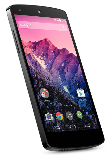 Google Nexus 5 Android Smartphone by LG Slanted View