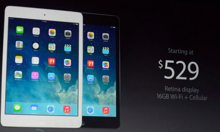New iPad Air Pricing - october 2013 - Credit Engadget- Analie