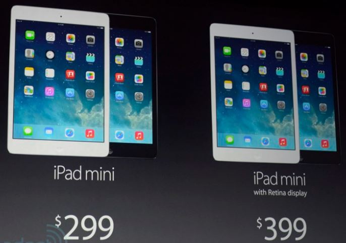 New iPad and iPad Mini Prices - october 2013 - Credit Engadget