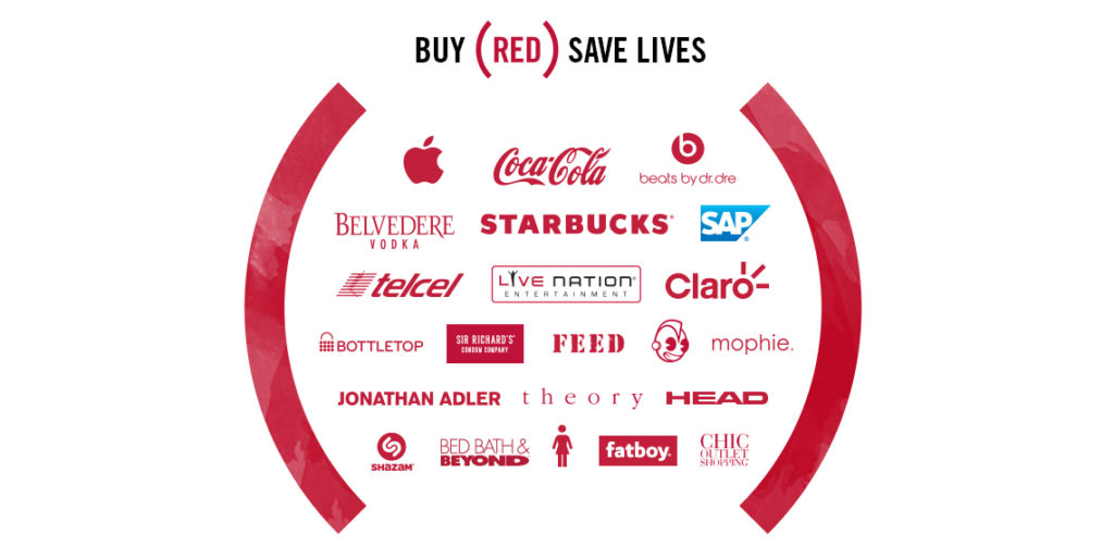 shop for good with RED products
