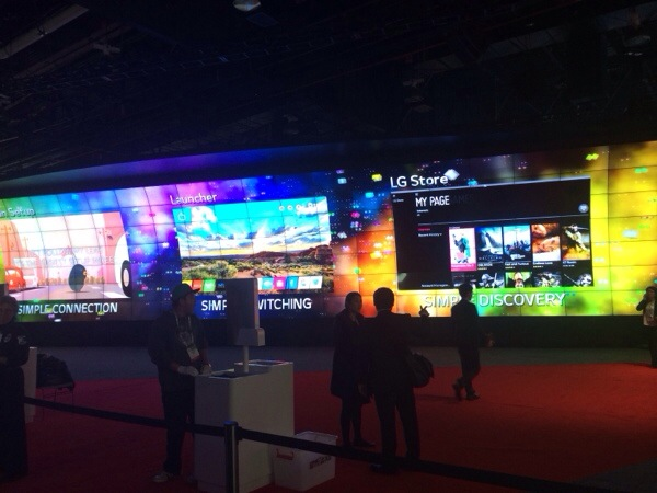 CES Sneak Peek:  The LG Booth is one of my favorites every year!
