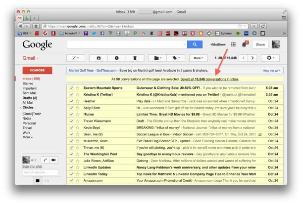 clean gmail inbox