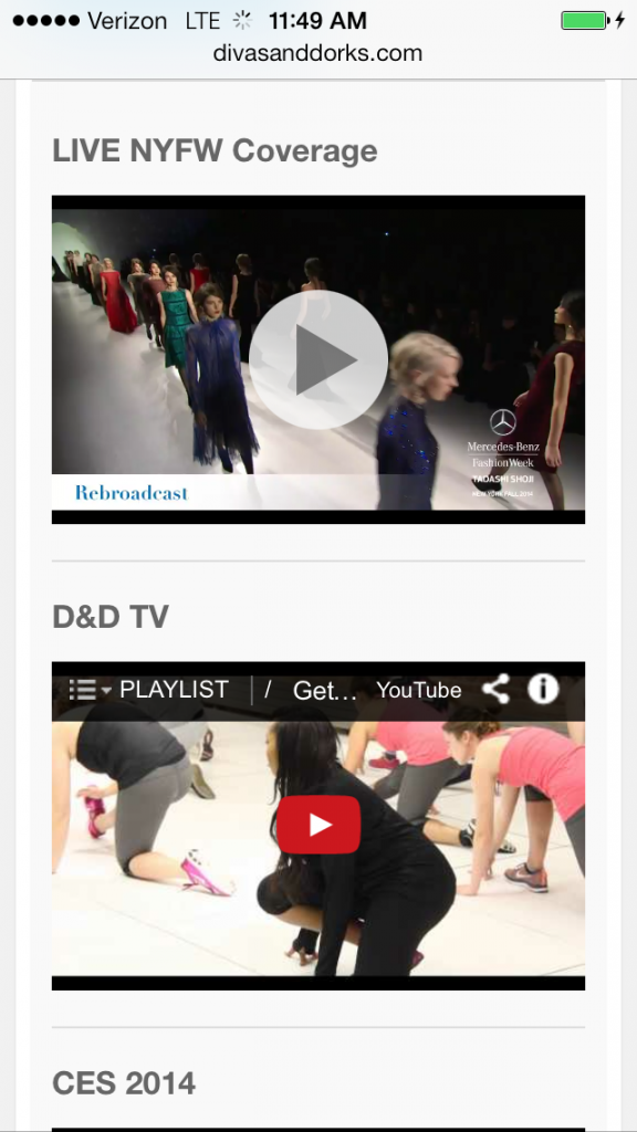 Streaming New York Fashion Week Shows On The Go