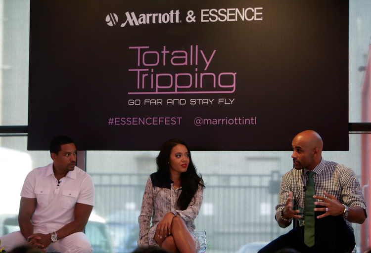 Boris Kodjoe talks about his epic travel moments for the Totally Tripping Panel Discussion during ESSENCE Festival
