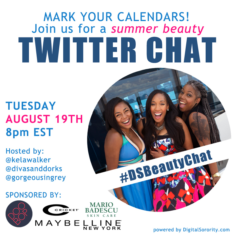 DS Beauty Twitter Chat #DSBeautyChat