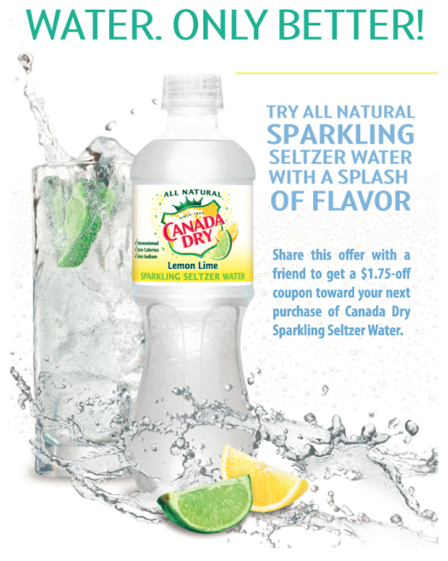 Add Sparkle With Canada Dry