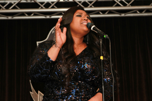 Jazmine Sullivan performed at the BET Music Matters Grammy Showcase